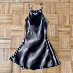 Brandy Melville Striped Fit and Flare Dress